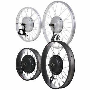 """20 24 26"""" Front Wheel Electric Bicycle Motor Conversion Kit Tire 750W 1000W"""