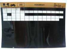 Kawasaki KDX200 1983 Parts List Microfiche NOS k187
