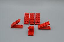 LEGO 6 x  Scharnier 2x5 alter Typ kleines Loch rot 3149c01 Set 724 654 642 662