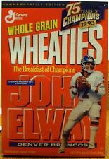 "John Elway Wheaties ""75 Years of Champions"" 1999  Denver Broncos 18 oz Unopened"