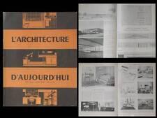 L'ARCHITECTURE D'AUJOURD'HUI 1947 BUREAU, MOBILIER, Prouvé, MIES VAN DER ROHE,