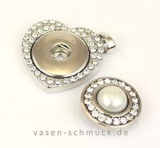 Markenlose Modeschmuck-Halsketten & -Anhänger aus Glas mit Herz für Damen