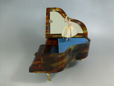 RARE VINTAGE SWISS REUGE DANCING BALLERINA PIANO CASE MUSIC BOX ( WATCH VIDEO )