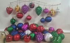Christmas ornaments 60 lot plastic decorative fruit and balls and original box
