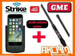 APPLE IPHONE 7 - STRIKE MOBILE PHONE CAR CRADLE DIY + GME 7DBI ANTENNA