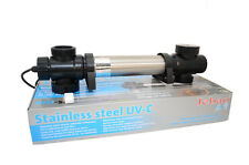 Jebao STU Stainless Steel UVC Clarifier (55-watt) for Fish pond Water Fountain