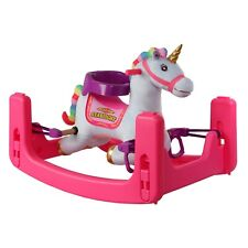 Rockin' Rider Grow-With-Me Unicorn Tek Nek! 3 IN 1 Rocking Bouncer Spring Horse