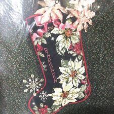 Something Special WHITE POINSETTIAS Christmas Stocking Needlepoint Kit New