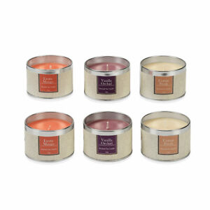 Set of 6 Travel Tin Scented Candles Fragrance Lights For Home Birthday