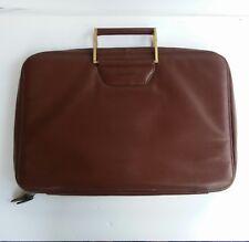 Vintage Argentina Cowhide Leather Cognac Brown  Attache Briefcase Bag