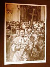 Il Venerdì Santo della Pasqua a Roma nel 1902 Processione Croce Gerusalemme