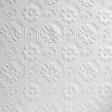 Flower Paintable Wallpaper Luxury Embossed Textured Vinyl Spencer Anaglypta