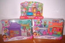 MATTEL FISHER PRICE Dora Birthday Set & Friends Animal Adoption Center & Cabana