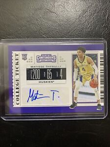 2019 Panini Contenders Draft Picks Matisse Thybulle College Ticket RC Auto #74