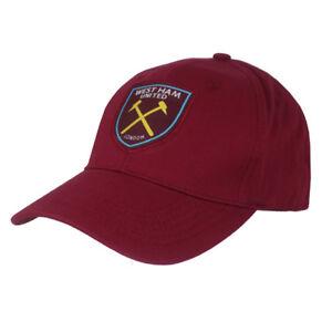 WEST HAM UNITED FC BURGUNDY COLOUR ADULT BASEBALL CAP HAT NEW XMAS GIFT