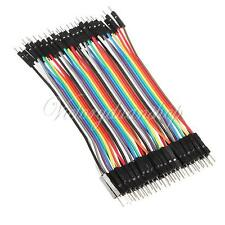 40pcs 1-pin 10cm 2.54mm M-Male Breadboard Connector Jump Wire Cable for Arduino