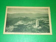 Cartolina Vetta del Grappa - Punto Trigonometrico - Il Pertica 1920 ca.