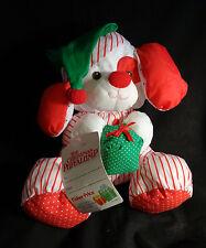 "1991 Puffalump Fisher Price Christmas Puppy Dog Gift Tags Stuffed Animal 12"""