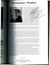 Christopher Paolini signed Comic-Con International 2004 program book 168 pages