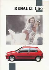 Renault Clio Prospekt 7 91 44 S. brochure Auto PKWs Autoprospekt Frankreich 1991