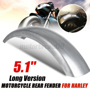 Universal 5.1'' Long Flat Motorcycle Rear Fender Mud Guard Wheel Mudguar