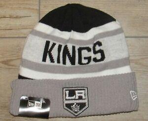Los Angeles Kings LA New Era On Ice Fleece Lined Cuffed Winter Hat Cap Men's