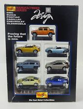 "MAISTO GM 1:64 DIE CAST COLLECTION MANUFACTURER SERIES 3"" CARS - 7 PCS SET"