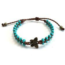 Butterfly Bracelet Waxed thread glass beads friendships bracelet By Ruigos