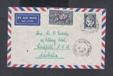 New Caledonia 1963 Airmail Cover Noumea To Lindfield Nsw Australia