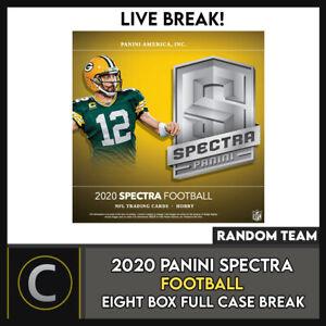 2020 PANINI SPECTRA FOOTBALL 8 BOX (FULL CASE) BREAK #F555 - RANDOM TEAMS