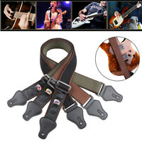 Bass Electric Acoustic 3 Picks Holder Musical Instrument Guitar Strap Belt
