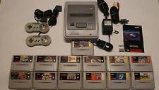 Nintendo SNES Konsole mit 13 TOP Spielen und Anschlusskabeln