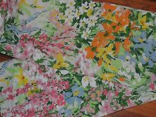 New Springmaid Wondercale Jolie Twin Fitted Sheet  Multi Colored Floral orange