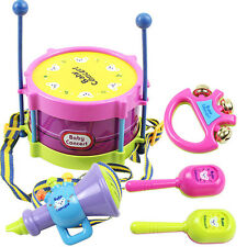 5 PCS Baby Infant Toddler Developmental Toy Kids rattles drum Educational Game