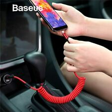 Baseus Retractable Coiled Spring Type C USB-C Fast Charging Data Sync Cable Car