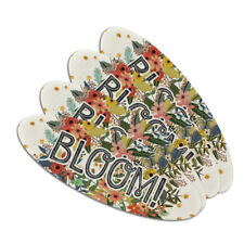 Bloom Pretty Flowers Spring Double-Sided Oval Nail File Emery Board Set 4 Pack