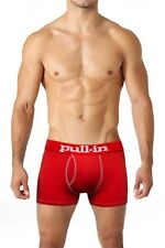 "Pull-in Shorty Logo Red Boxer Briefs Made in Portugal CL103 ""X-Large"""