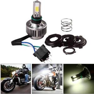 1PCS 32W 6000K LED Motorcycle H4 Headlight Bulb 360° Hi /Low Beam Fan Cooling
