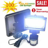100 LEDs Solar Powered Sensor Light Security Flood Motion Outdoor Garden Lamp US