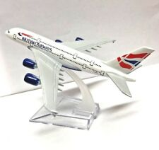 16cm BA British Airways A380 Metal Plane Model Aircraft Desk Airline Stand UK