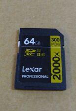 Lexar 2000x 64GB SD SDXC Class 10 UHS-II U3 Memory Card For DSLR Camera 300MB/s