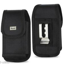 Black Rugged Nylon Pouch Belt Clip For Samsung Galaxy S3 S4 w/Heavy Duty Case On