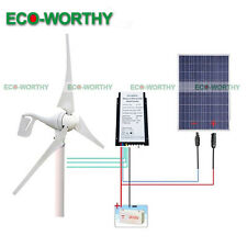 Daily 1.4KW Hybrid Kit: 400W DC Wind Turbine Generator & 100W PV Solar Panel