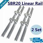 4X SBR20 200mm~2200mm Linear Silde Rail Guide Shaft+8X SBR20UU Bearing BLOCK SET
