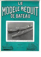 MODELE REDUIT DE BATEAU N°189 PLAN : GOELETTE A COQUE ANGULAIRE / MARINE JAPONAI