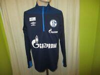 "FC Schalke 04 umbro Spieler Freizeit-Training Zipper/Jacke 19/20 ""GAZPROM"" Gr.M"