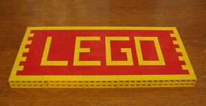 LEGO  CUSTOM  SIGN #1  RED AND YELLOW  MADE FROM LEGO BRICKS