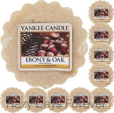 10 CERA Yankee Candle Tarts Ebano e rovere si scioglie Eucalipto & Patchouli