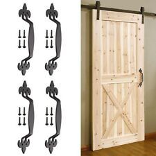 "4x 11"" Sliding Barn Door Handle Vintage Cast Iron Pull Gate Cabinet Farmhouse"