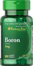 Boron 3Mg Vegetarian As Boron CItrate & Boron Aspartate PIlls 100 Coated Tablets